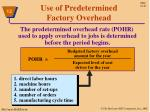 use of predetermined factory overhead1