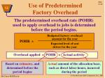 use of predetermined factory overhead2