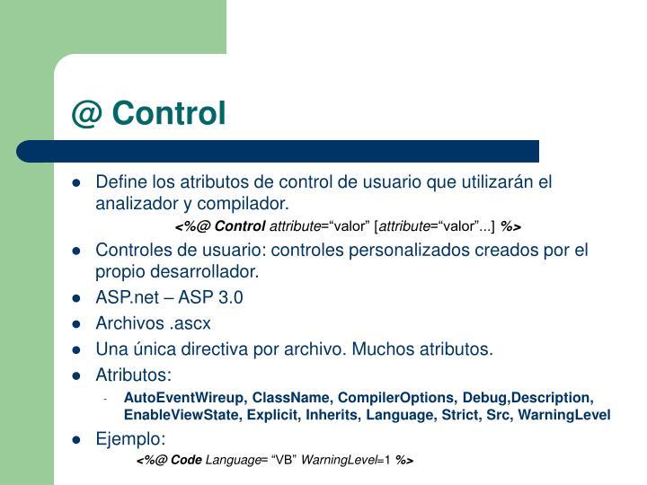 @ Control