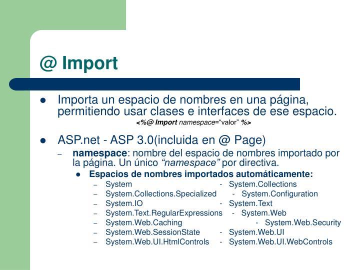 @ Import