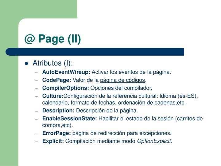 @ Page (II)