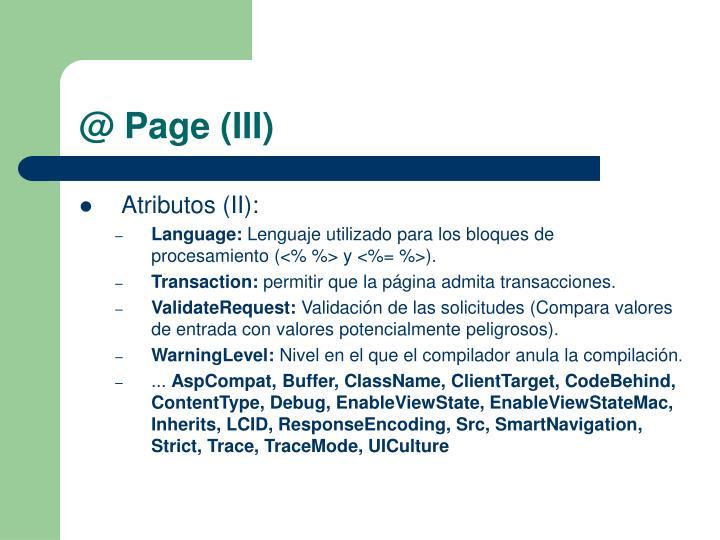 @ Page (III)