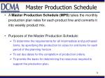 master production schedule