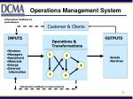 operations management system