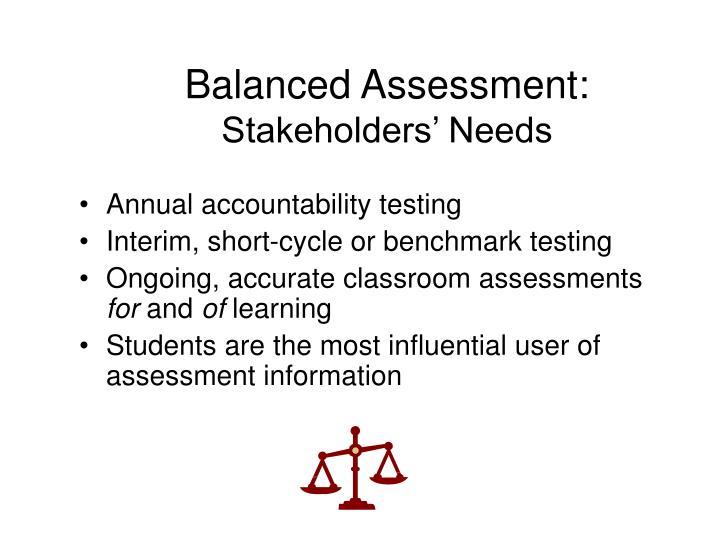 Balanced Assessment: