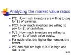 analyzing the market value ratios