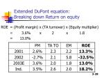 extended dupont equation breaking down return on equity