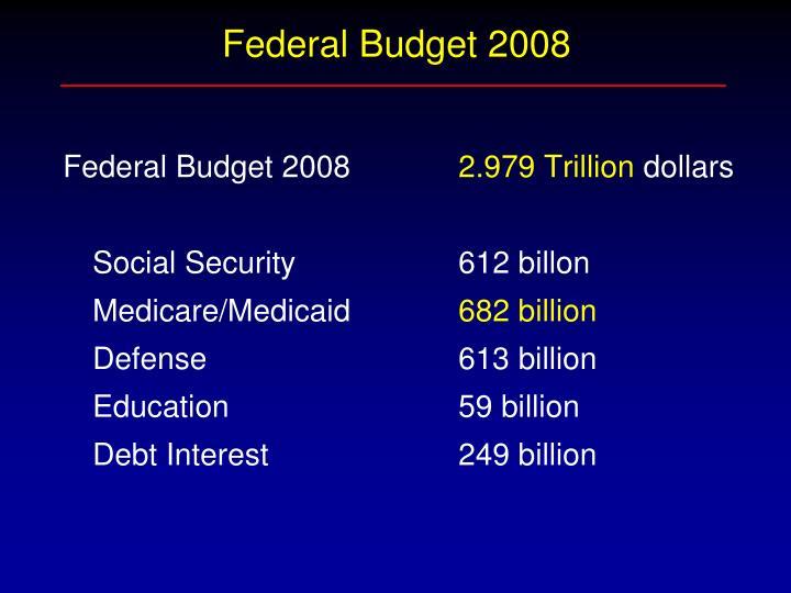 Federal Budget 2008
