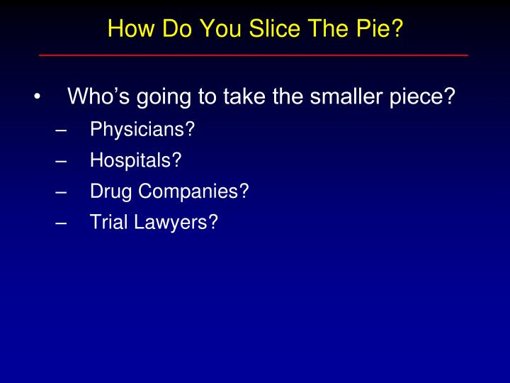 How Do You Slice The Pie?