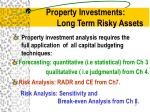 property investments long term risky assets