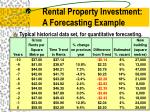 rental property investment a forecasting example