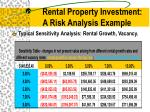 rental property investment a risk analysis example