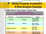 rental property investment a risk analysis example1