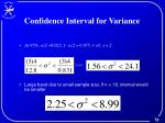 confidence interval for variance1