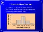 empirical distributions