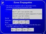 error propagation