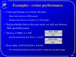 examples cruise performance