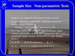 sample size non parametric tests