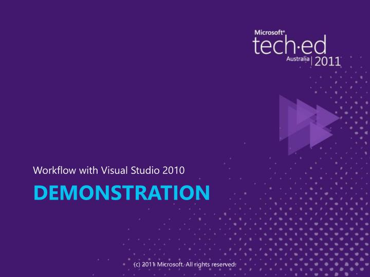 Workflow with Visual Studio 2010