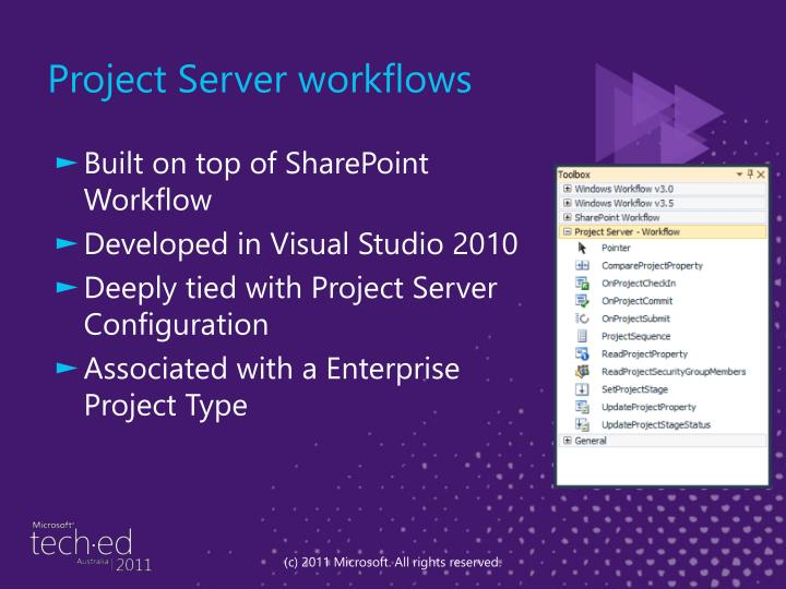 Project Server workflows