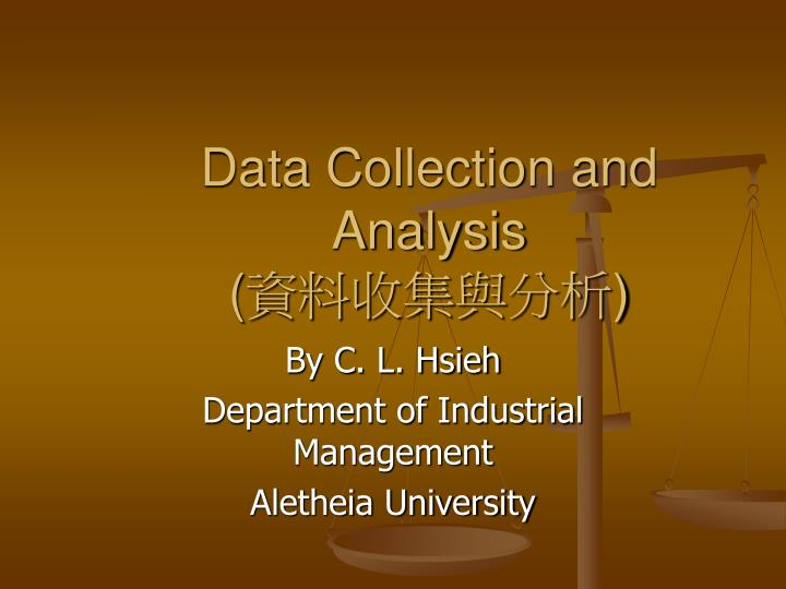 data collection and analysis n.