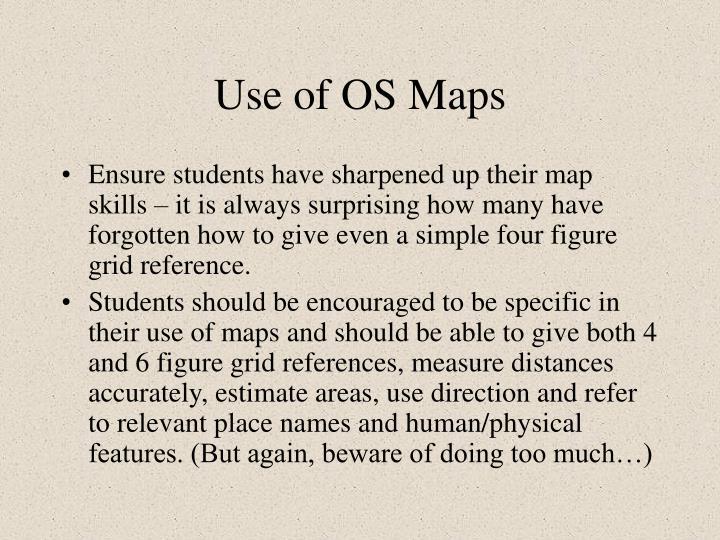 Use of OS Maps
