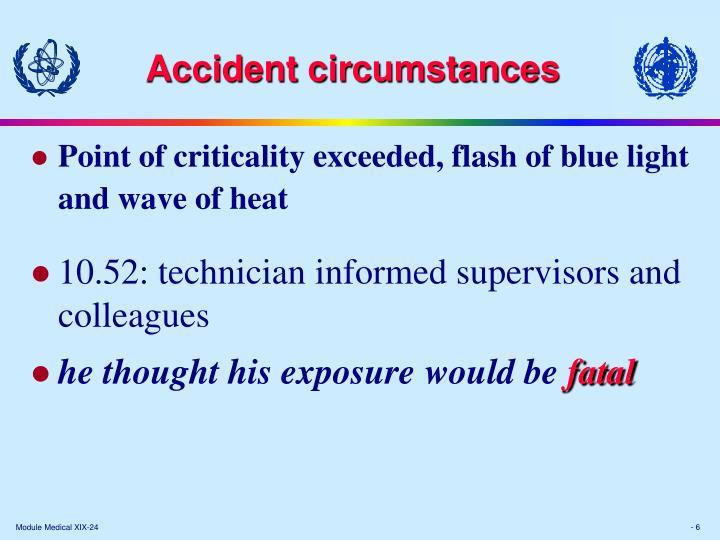 Accident circumstances
