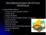 recomendaciones diet ticas generales
