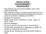 installation environnement procedures5
