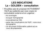 les indications la golden consultation
