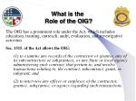 what is the role of the oig