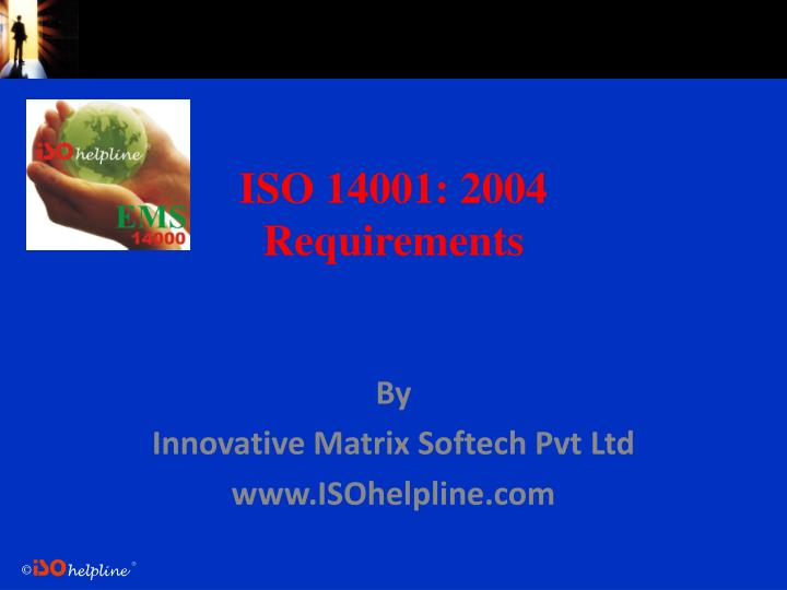 iso 14001 2004 requirements n.