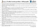 facility location problem bibliographie