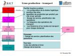 liens production transport
