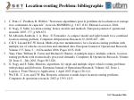 location routing problem bibliographie