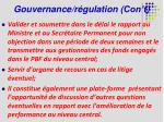 gouvernance r gulation con t