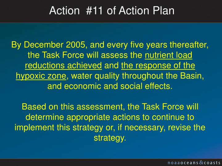 Action  #11 of Action Plan