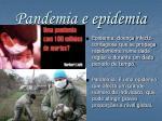 pandemia e epidemia