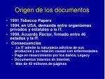 origen de los documentos