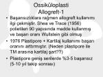 ossik loplasti allogreft 1