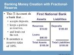 banking money creation with fractional reserve
