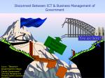disconnect between ict business management of government