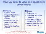 how cio can add value in e government development