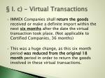 i c virtual transactions