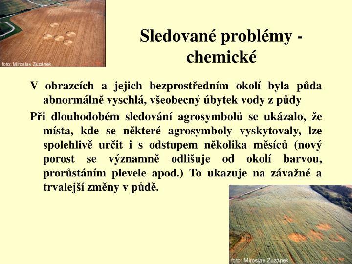 Sledované problémy - chemické