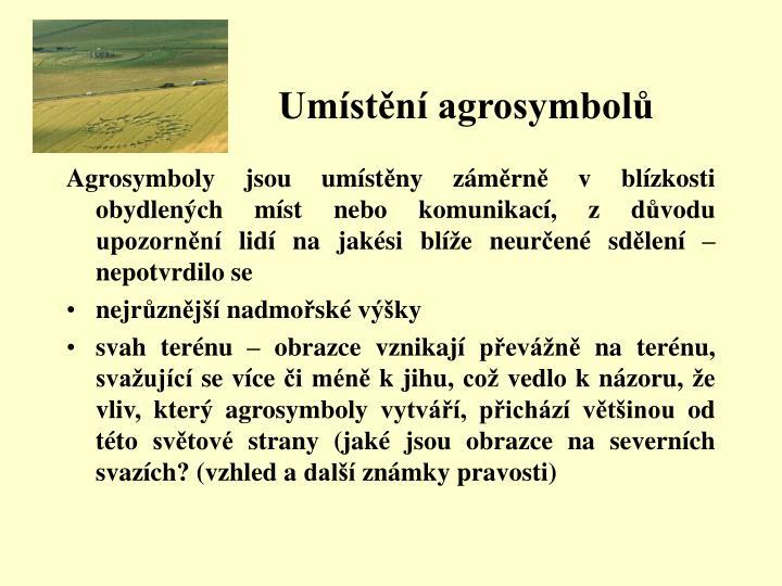 Umístění agrosymbolů