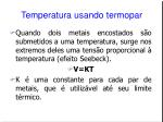 temperatura usando termopar