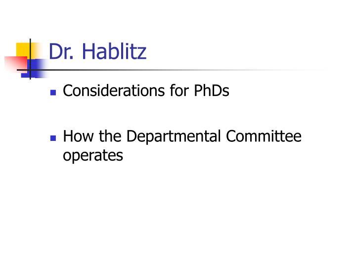 Dr. Hablitz