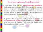 il contesto regionale accreditamento 2