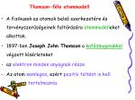 thomson f le atommodell